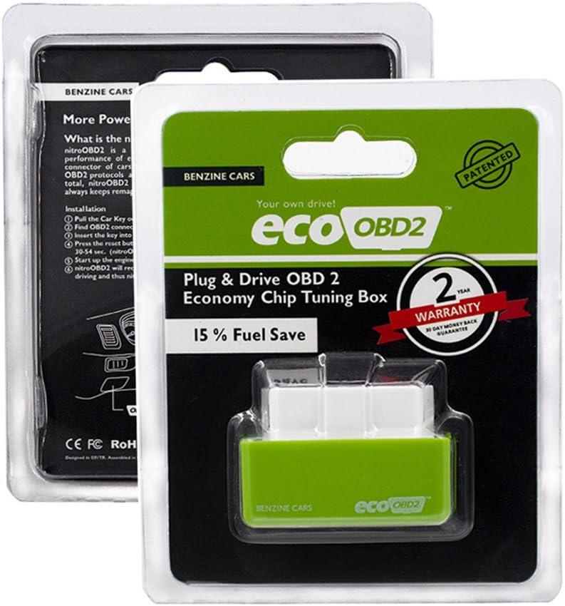 Eco OBD2Enchufa y conduce - Chip de ahorro de gasolina OBD2 para coches de bencina