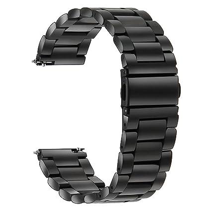 TRUMiRR Reemplazo para Galaxy Watch 46mm/Gear S3 Frontier/Gear S3 Classic, 22mm Correa de Reloj de Acero Inoxidable Correa de liberación rápida para ...