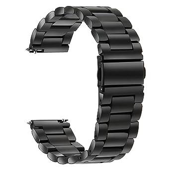TRUMiRR Bracelet de montre en acier inoxydable de 18mm pour Huawei Watch, Asus ZenWatch 2