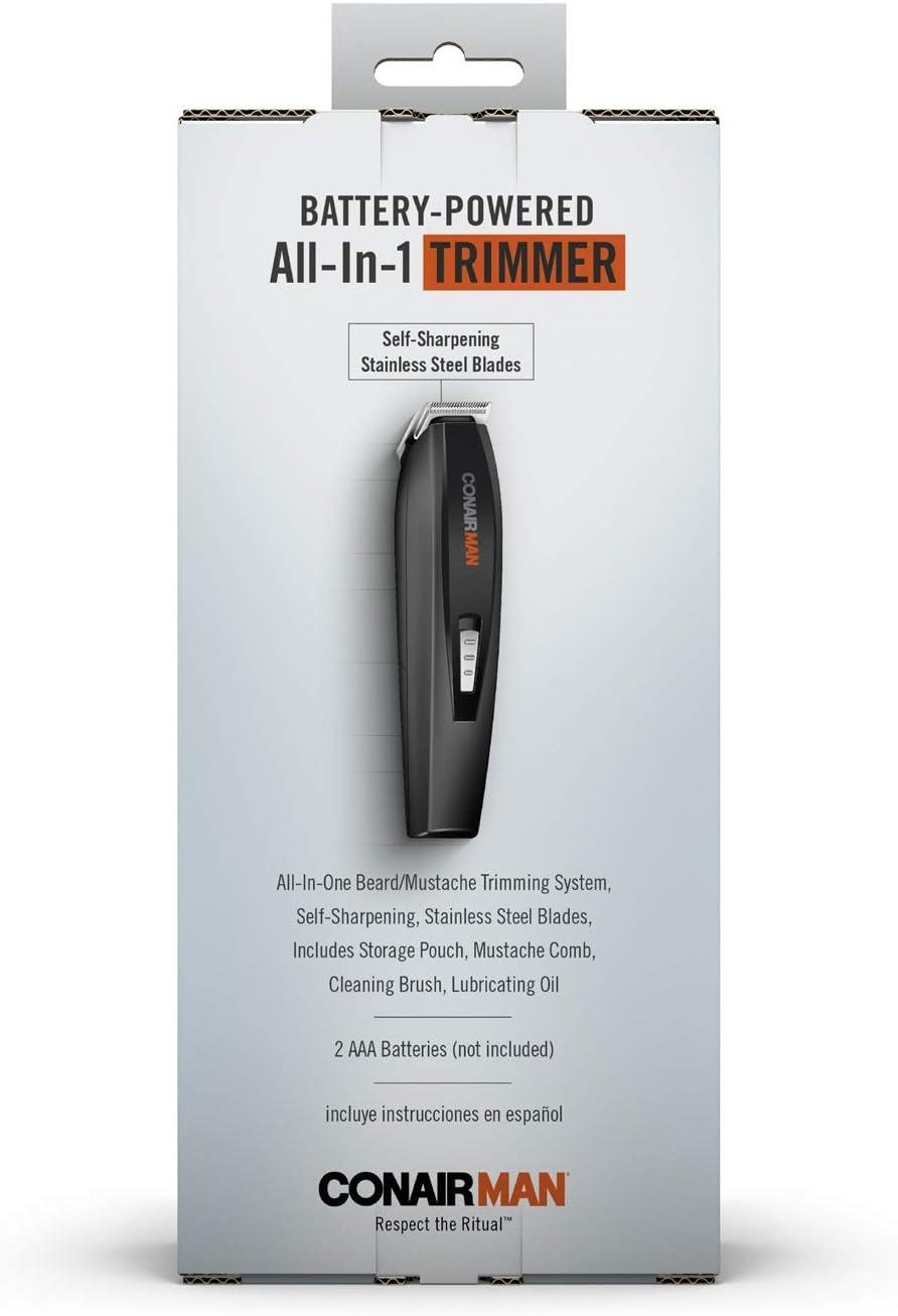 Conair All-in-One funciona con pilas de barba y bigote Trimmer ...
