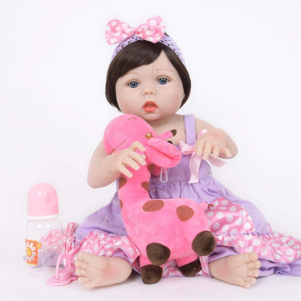Hongge Reborn Baby Doll,Se ve una muñeca Real renacida Juguete Infantil de la muñeca recién Nacida cumpleaños de Navidad 55cm