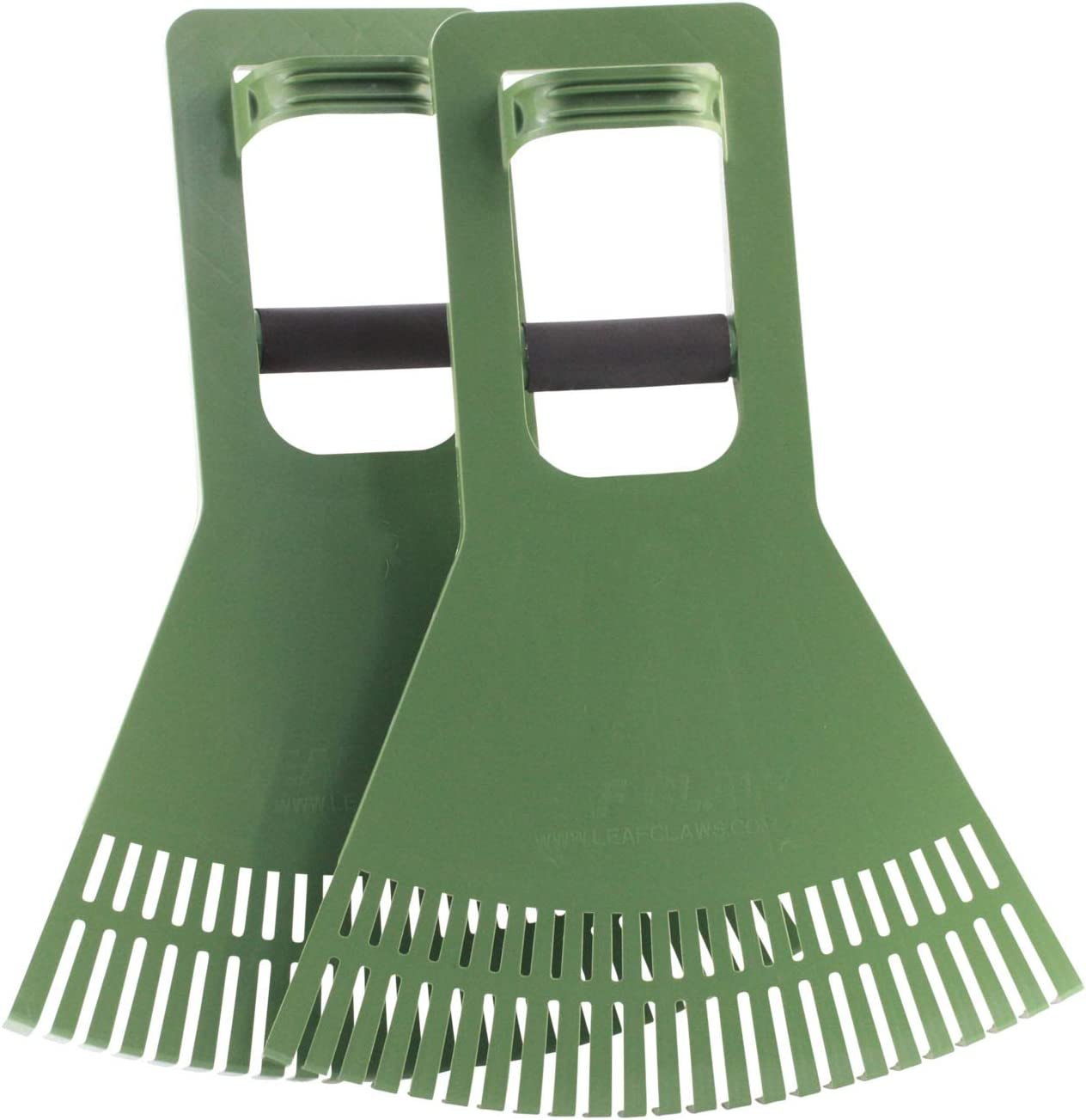 Vertex Premium Quality Pick-Up Scoops with Foam Grip Wrap   Long Reach Leaf Claw for Grass, Lawn, Garden, Twigs, Pine Needle or Debris   Set of 2 Ergonomic Hand Rake Tool   Made in USA Model P922