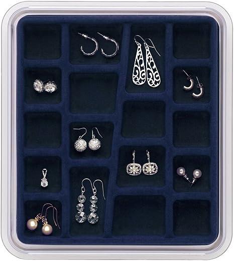 Midnight Blue Neatnix STAX Jewelry Organizer Tray 5 Compartments