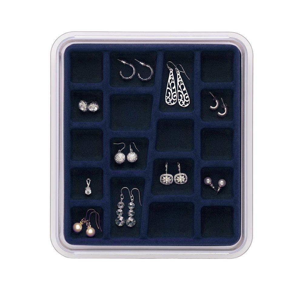 Burgundy 5 Compartments Neatnix STAX Jewelry Organizer Tray
