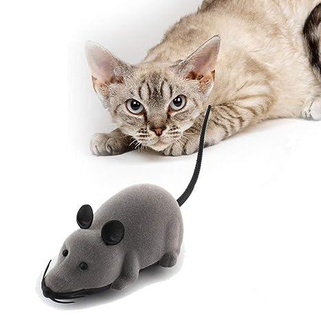 Hpybest - Ratón teledirigido para Perros y Gatos domésticos