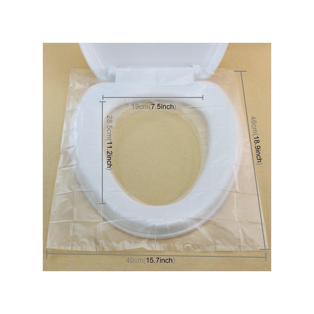Cobertura para asiento de inodoro desechable, alfombra de papel higiénico impermeable, antibacteriano para niños, bebés y madres embarazadas.