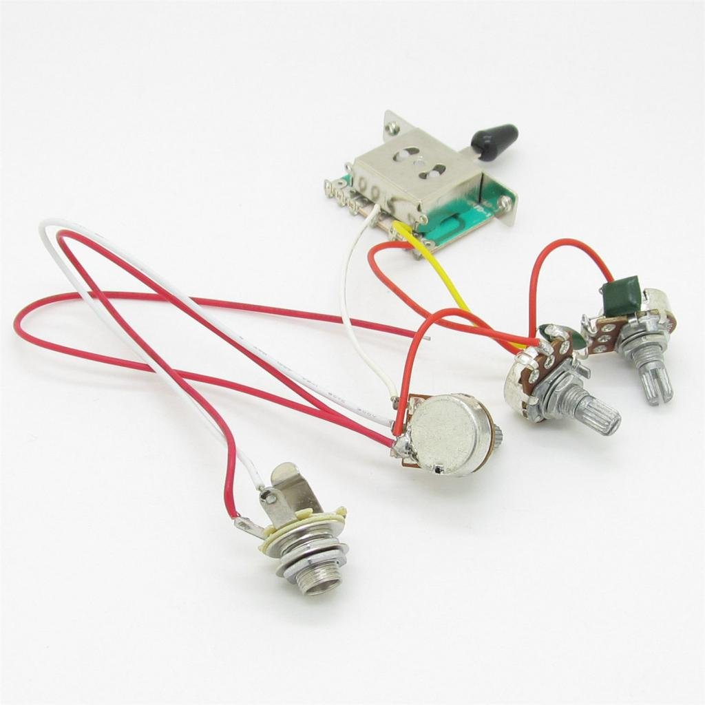 Guitar Wiring Harness Prewired 3 X 500k Pots 1 Volume 2 Way Switch Knobs For Strat Sale Tone Control 5 Musical Instruments