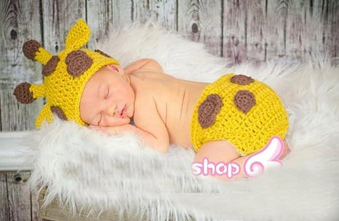 Amazon Baby Boy Girl Toddler Crochet Giraffe Hat And Diaper