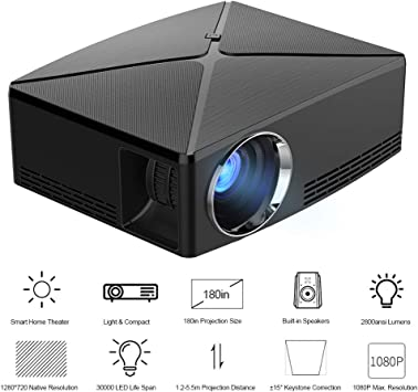 Docooler C80 Proyector LCD LED 1080P Home Theater 2800 Lumens ...