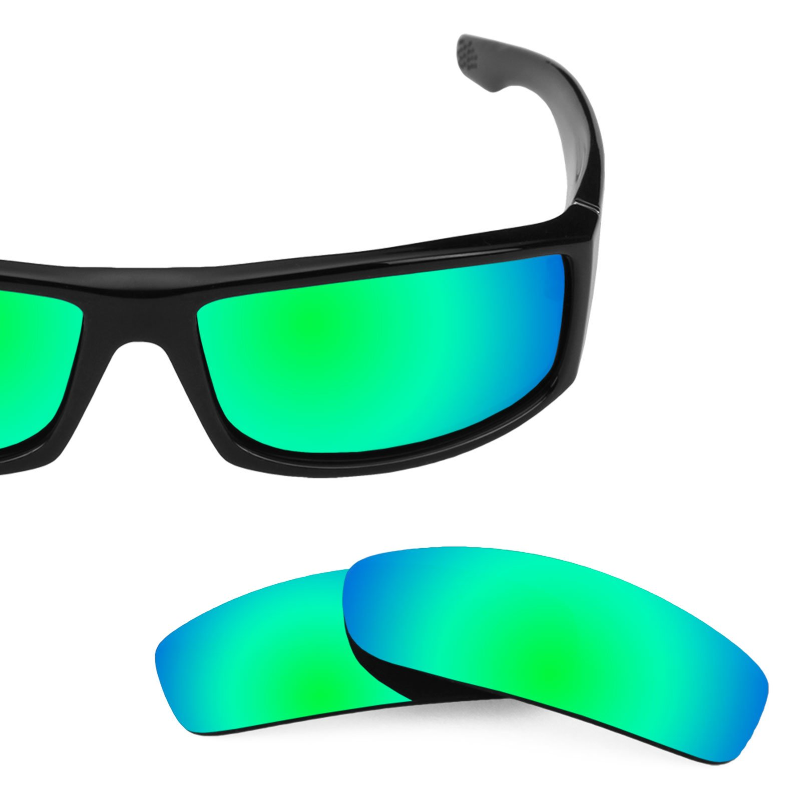 ba6fe46105 Revant Polarized Replacement Lenses for Spy Optic Cooper Elite Rogue Green  MirrorShield