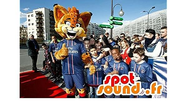 mascota SpotSound del lince Orange, con los ojos azules: Amazon.es ...