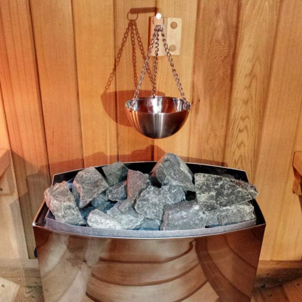SunniY Sauna Bol en Acier Inoxydable Sauna Huile Essentielle Coupe Huile Essentielle Diffuseur De Parfum pour Sauna Et Spa