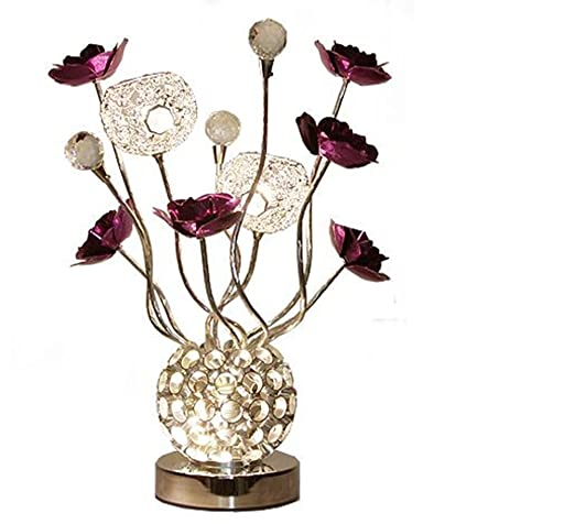 Crystal Flower Vase Table Lamp Led Table Lamp Bedside Living Room
