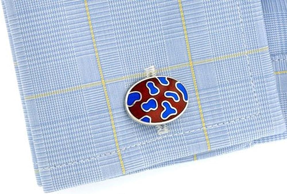Sterling Silver Blob Design Cufflinks Made in England