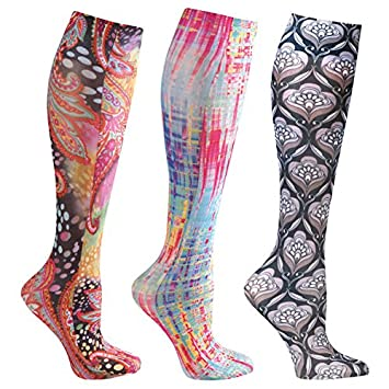 12ded6a8a9 Image Unavailable. Image not available for. Color: Women's Moderate  Compression Wide Calf Knee High ...