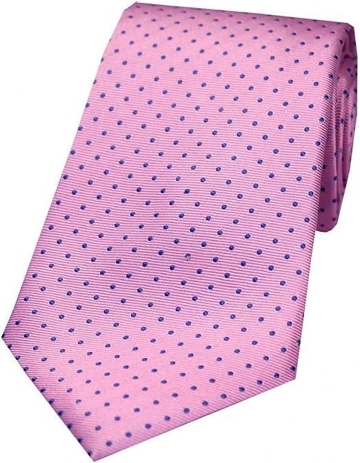David Van Hagen - Corbata de seda para hombre, diseño de lunares ...