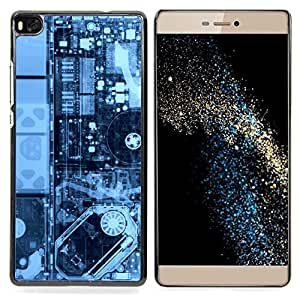 - Electronics Pcb Hdd X Ray Pc - - Cubierta del caso de impacto con el patr??n Art Designs FOR HUAWEI P8 Queen Pattern