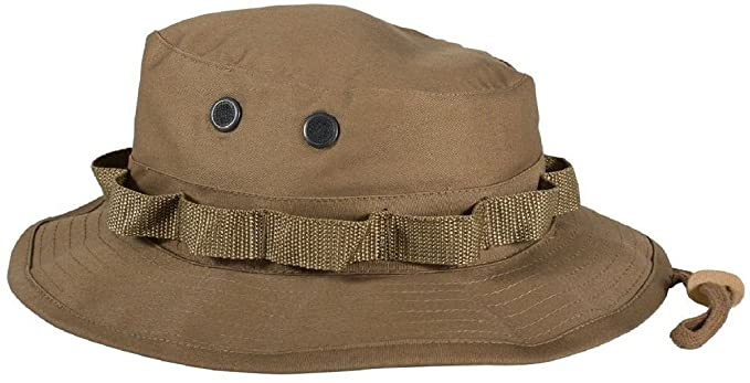 Amazon.com  Coyote Brown Military Tactical Wide Brim Bucket Camping ... 6644e023b07