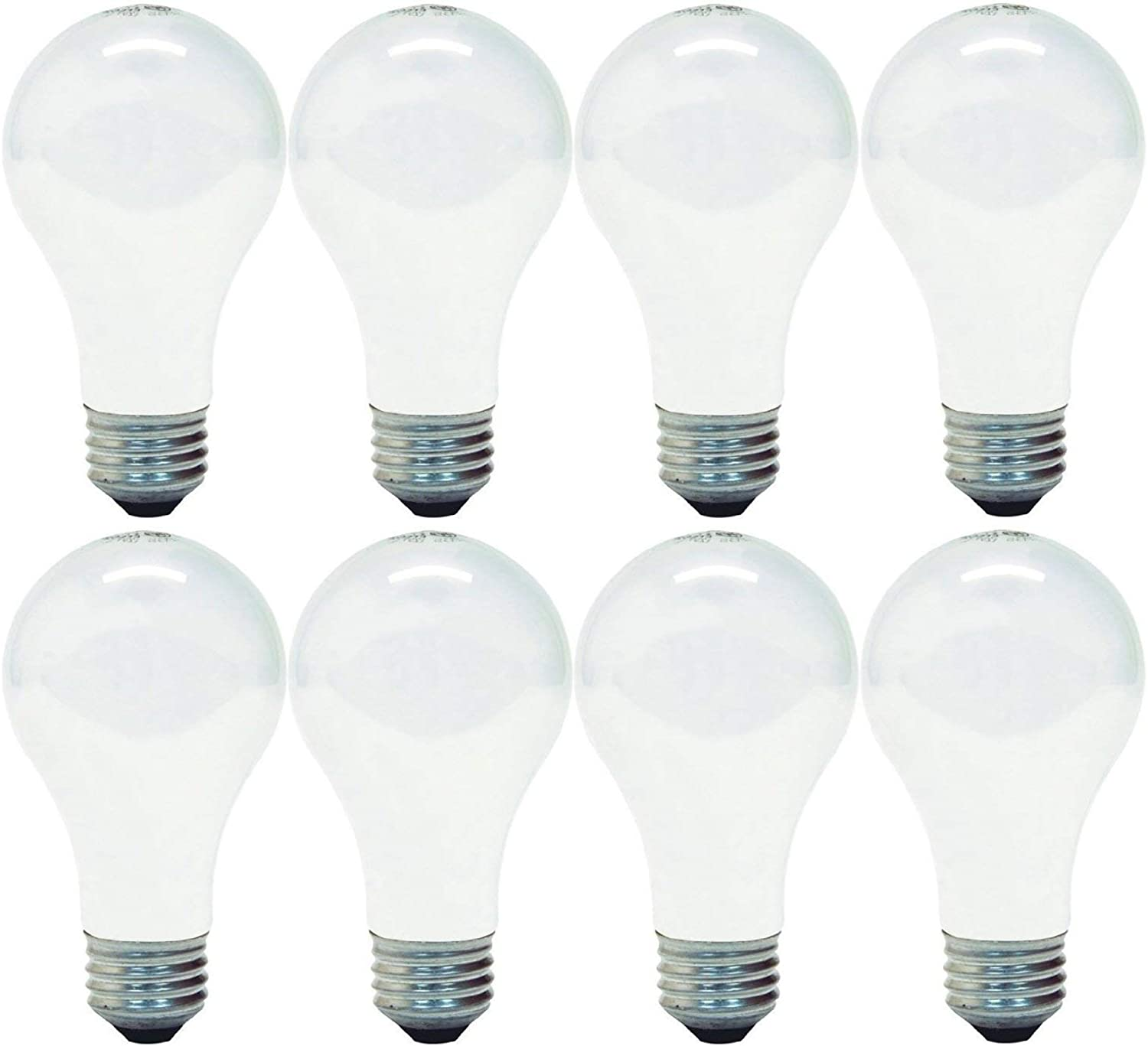 GE 714270019272 66249 Soft White 100 Replacement uses only 72 watts, 1270-Lumen A19 Light Bulb with Medium Base, 8-Pack