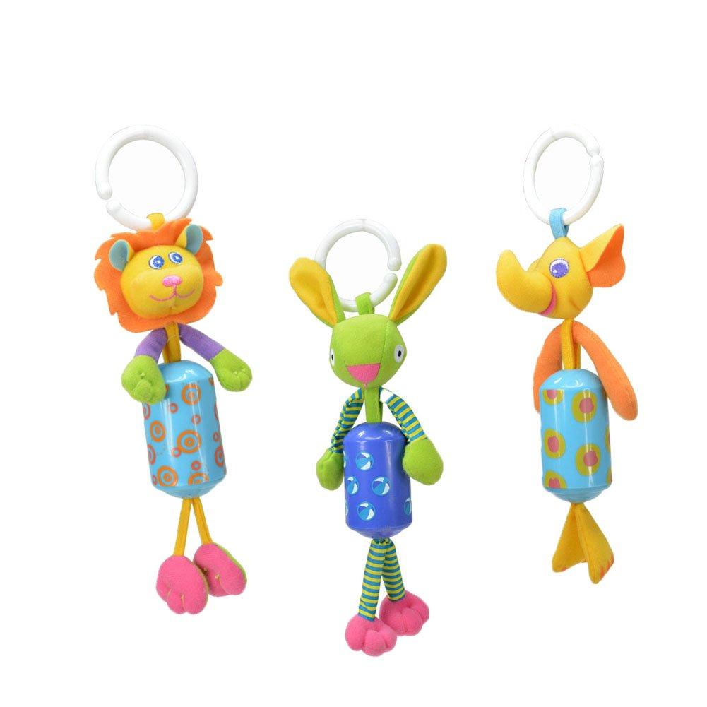 【期間限定】 donsane 3パックベビーRattle幼児車ベビーベッドベビーカー吊り下げおもちゃの風チャイムand Squeak donsane、少年 B07CV51LMZ B07CV51LMZ, 流山市:4f6b5072 --- impavidostudio.com