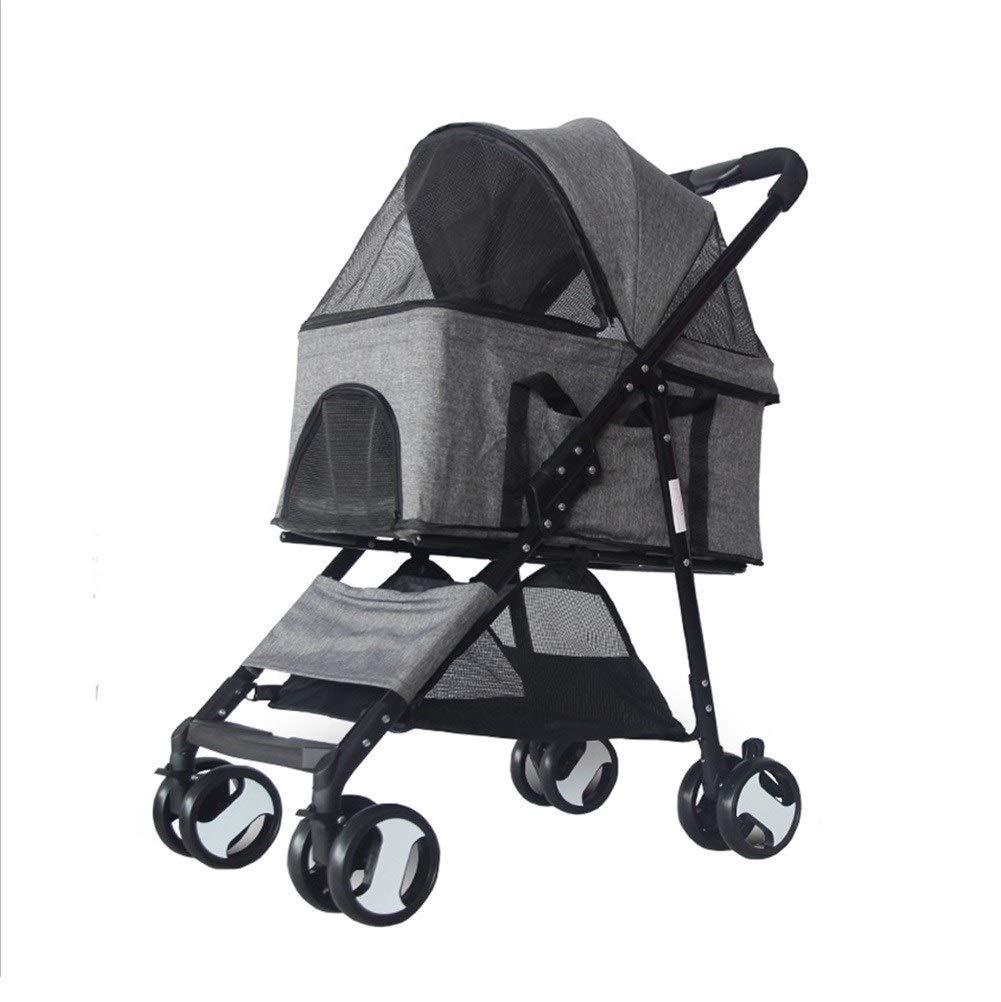 G  Dog Pushsedia, Passeggino Pram Carrier Travel Outdoor Luxury Senior Piegatable 4 Wheels Pet Handbag Cart Cat Trolley (Colore:G )