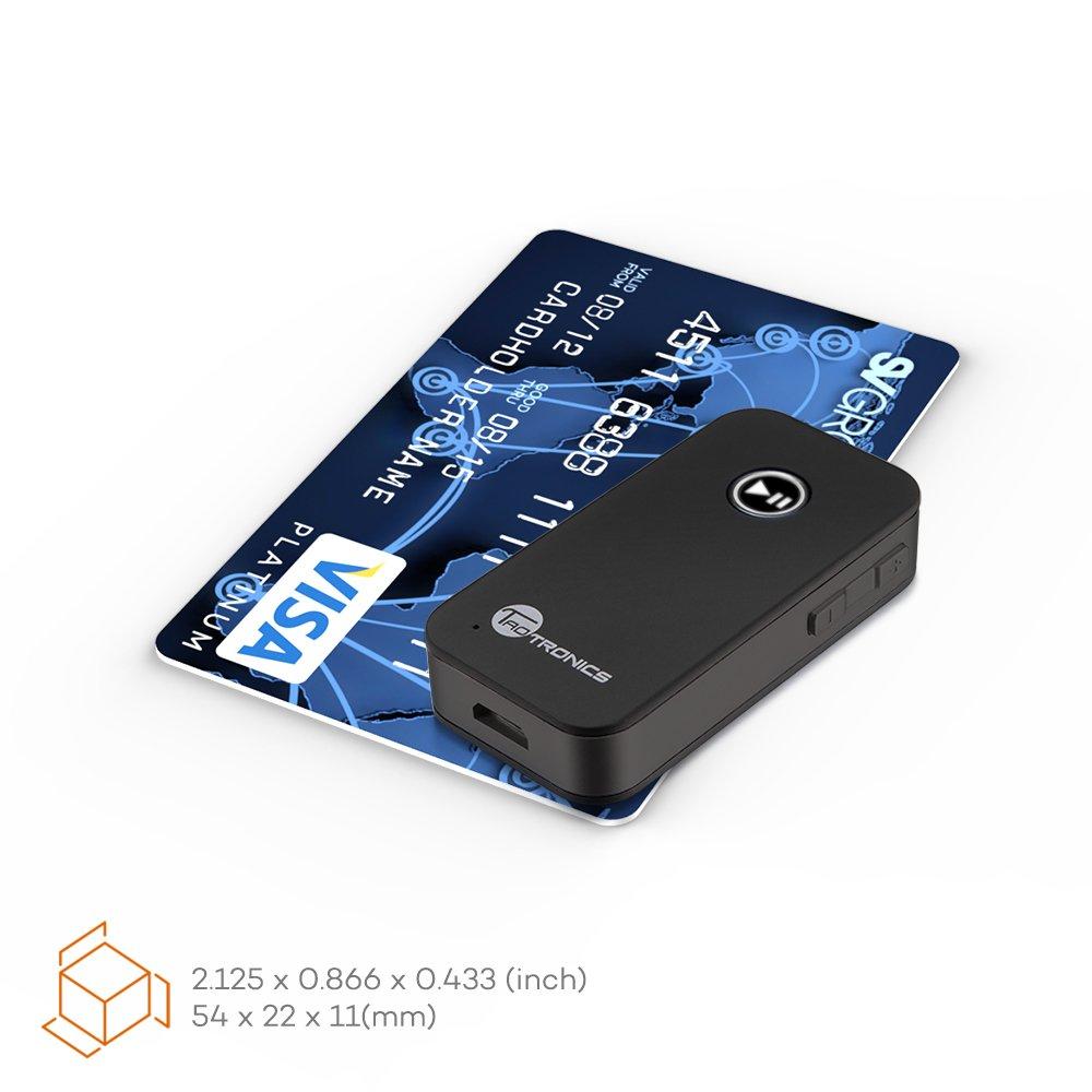 TaoTronics Bluetooth Empf/änger Bluetooth Adapter Drahtlos Bluetooth 4.2 Receiver mit Freisprecheinrichtung Bluetooth KFZ Set Lautsprechersystem und Handy mit Stereo 3.5 mm Aux