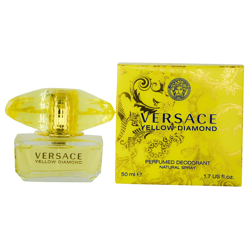 VERSACE YELLOW DIAMOND by Gianni Versace DEODORANT SPRAY 1.7 OZ for WOMEN ---(Package Of 5)