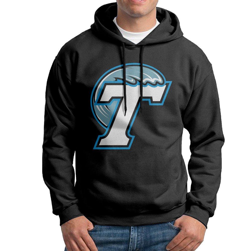 JJVAT Mens Hooded Sweatshirt Tulane University Black