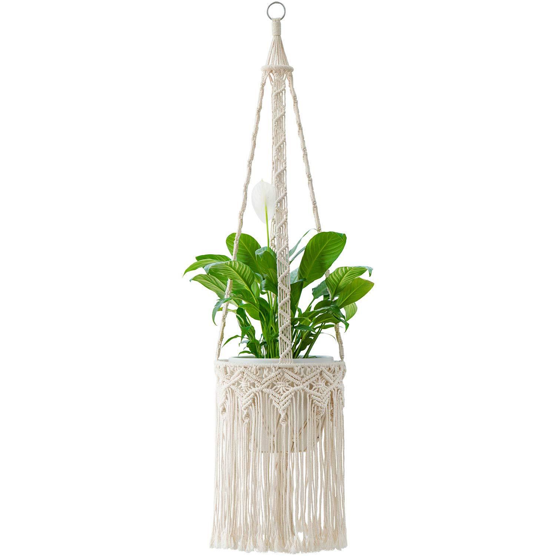 Vintage Style Hanging Plant Pot Hanger Holder House Planter Rope Basket Decor