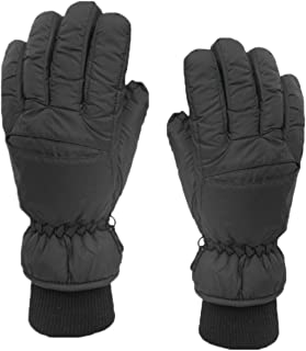 GAZHFERY Les Hommes D'hiver Noir Gants Chauds En Plein Air Gants De Ski Résistant Aux Intempéries