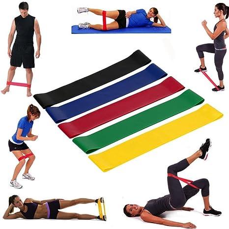 54fd52bc8915 Bande Elastique Fitness – zycShang Fitness Bandes de Resistance Bandes de  Musculation Set de 5 Kits