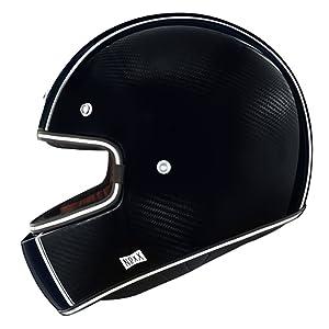 Nexx X.G100 XG100 Racer Carbon Fiber Full Face Retro Motorcycle Helmet (XXL)