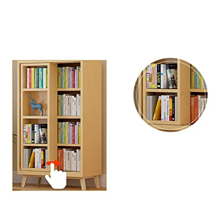 RTTsl Estanteria de Libros Estantería de Madera Puerta corredera estantería estantería Doble estantería estantería archivador archivador de información ...