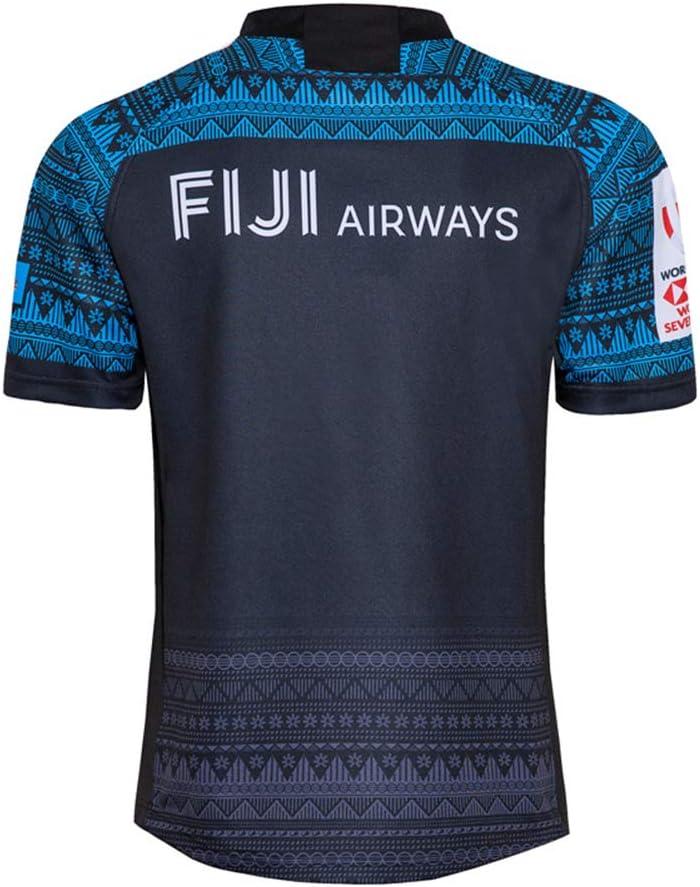 Polo JUNBABY Camiseta De Rugby 2020 Fijian 7s Camiseta De Rugby Fiji para Hombre