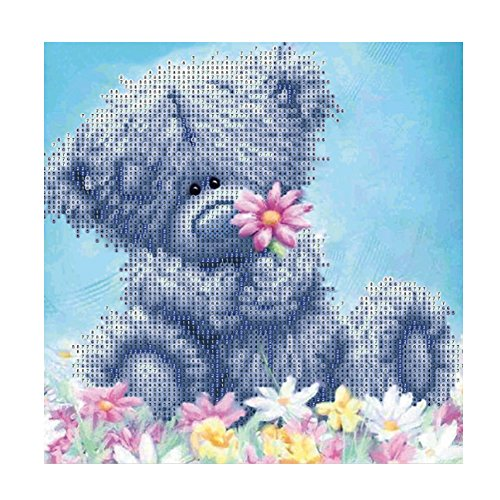 DIY 5D Diamond Painting by Number Kits Crystal Rhinestone Diamond Embroidery Paintings Pictures Arts Craft for Home Wall Decor Gray Patch Bear