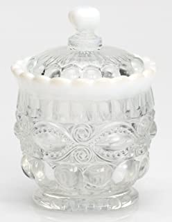 product image for Mosser Glass Eye Winker Opal Sugar Dish with Lid in Crystal