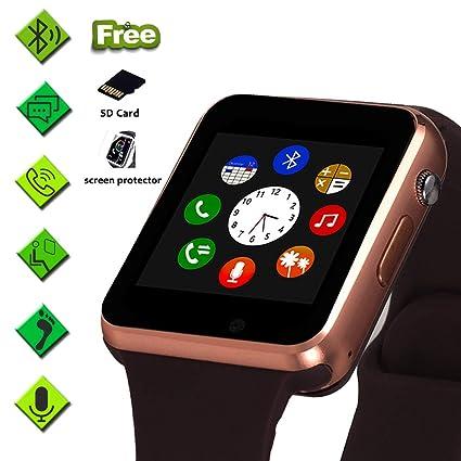 Amazon.com: Reloj inteligente con pantalla táctil, teléfono ...