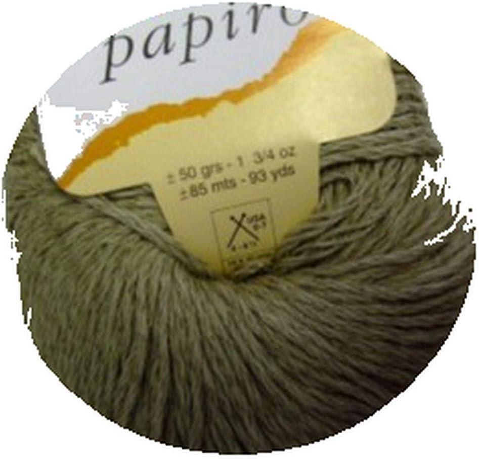 Katia papiro algodón/lino ovillo de lana, 50 g – Corteza: Amazon ...