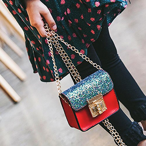 Messenger Mini Shoulder Everpert Kids Glitter Red Bags Party Chain Girls Sequins IpgTwpz