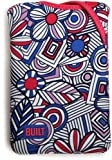 BUILT Kindle Fire Neoprene Twist Sleeve, Mosaic Flower, Blue