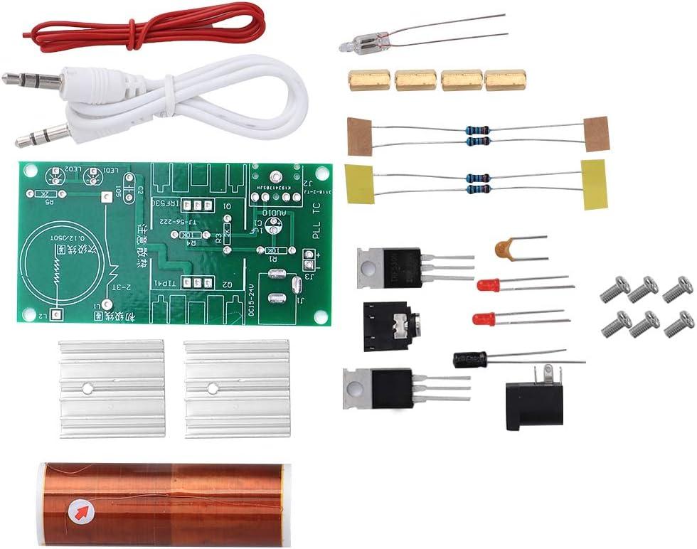 【𝐏𝐚𝐬𝐜𝐮𝐚】 Módulo de bobina Tesla, bobina mini Tesla, función de arco Aislamiento de luz de 15 W Montaje simple Claramente multifunción para transmisión de energía inalámbrica Música de computador