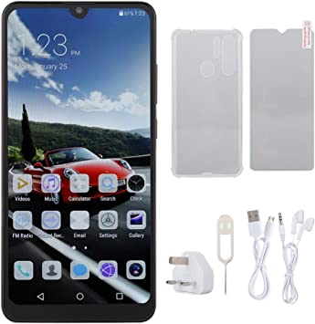 ASHATA 6.3inch HD Water Drop Screen Mobile Phone, 3G Red ...