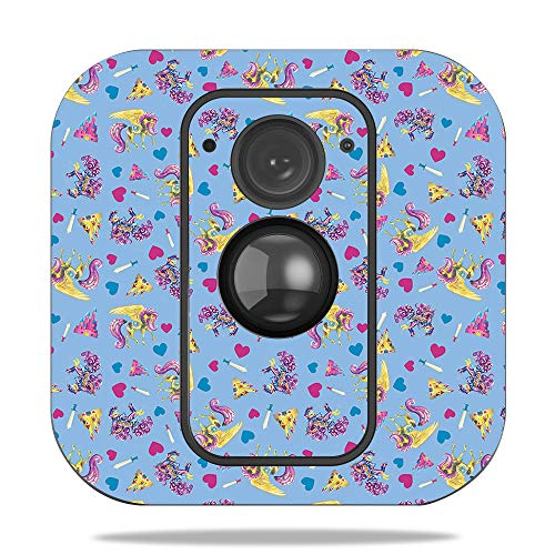 MightySkins Skin for Blink XT Outdoor Camera – Castle Unicorns | Protective, Durable, and Unique Vinyl Decal wrap Cover | Easy to Apply, Remove, and Change Styles | Made in The USA