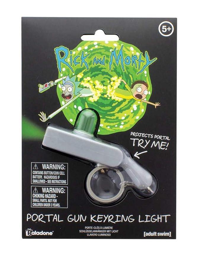 Paladone Llavero con luz rick & morty portal gun, gris