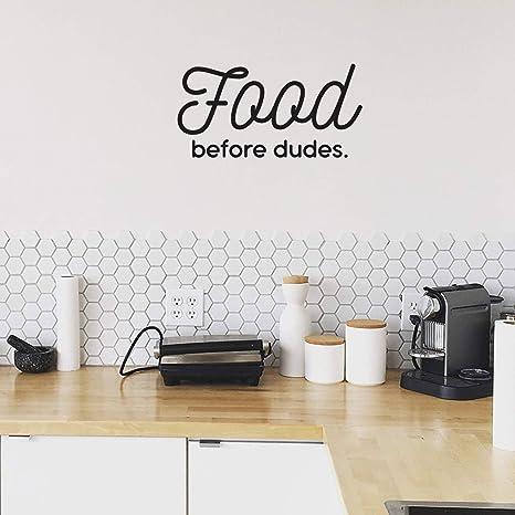 Amazoncom Vinyl Art Wall Decal Food Before Dudes 105