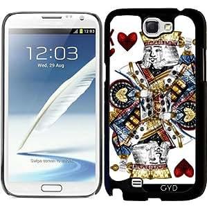 Funda para Samsung Galaxy Note 2 (GT-N7100) - Rey De Corazones by RUBIANT