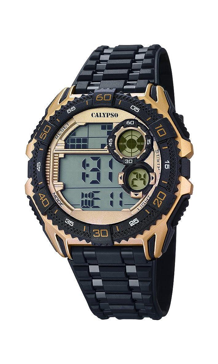 Calypso Hombre Reloj Digital con Pantalla LCD Pantalla Digital Dial y Correa de plástico en Color Negro K5670/2