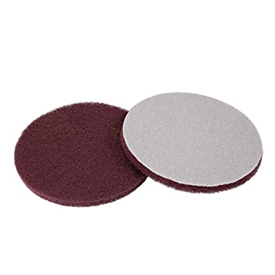uxcell 5 Inch Scrubber Scouring Pads Drill Scuffing Disc Hoop and Loop Surface Conditioning Disc 2pcs: Home Improvement