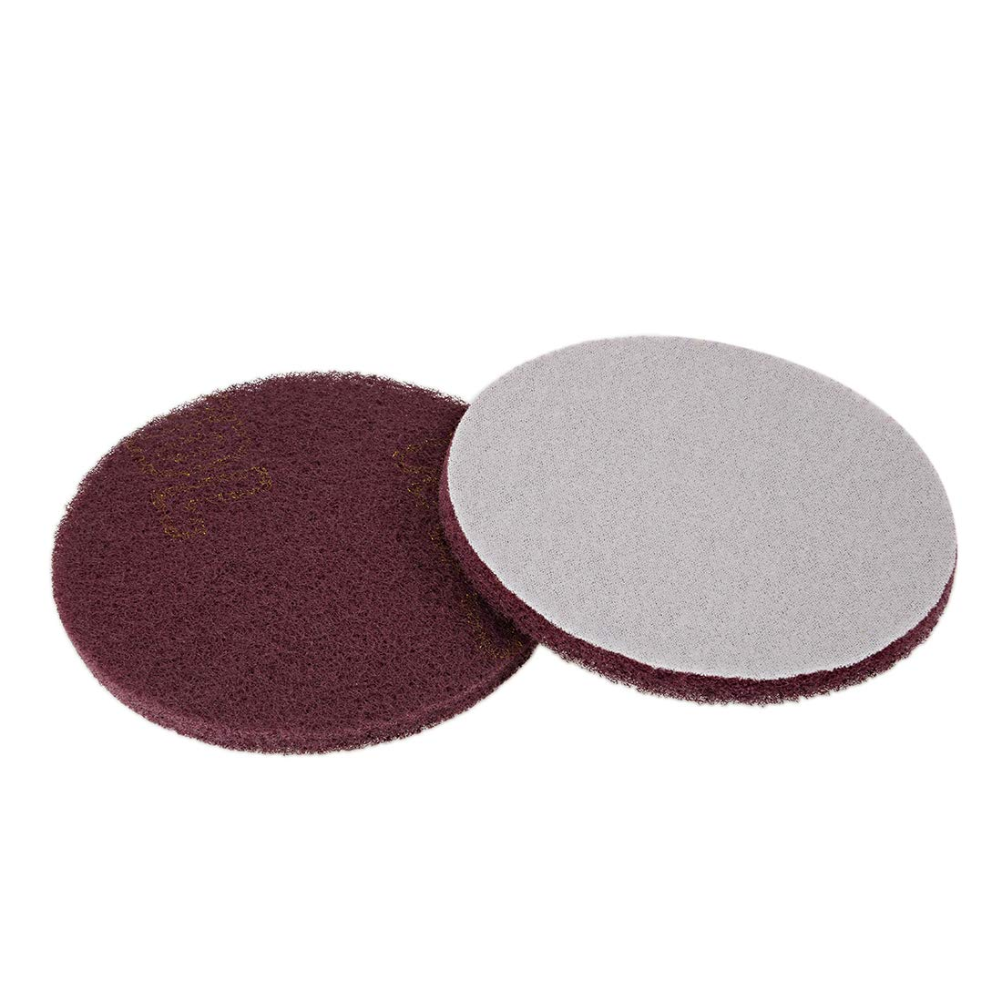 sourcing map 7 Inch Scrubber Scouring Pads 1000-Grits Drill Scuffing Disc Hoop and Loop Surface Conditioning Disc 6pcs