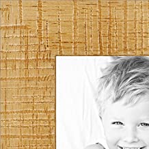 ArtToFrames 2WOMJ40038-13x17 Inch Wood Picture Frame, 13 X 17-Inch, Distressed Natural Stain on Basswood